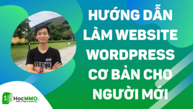 làm website bằng wordpress
