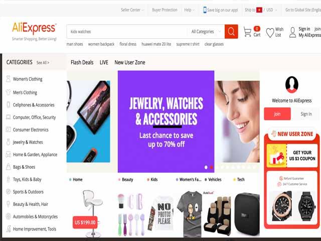 AliExpress cho phép đổi trả hàng