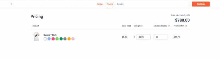 Đặt giá và theo dõi giá trong mục Sale Price