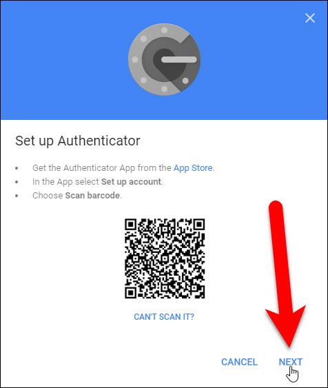 Thêm tài khoản google vào trong ứng dụng Google Authenticator